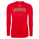 Under Armour Red Long Sleeve Tech Tee-Flagler Arched