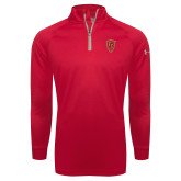 Under Armour Red Tech 1/4 Zip Performance Shirt-Secondary Mark