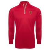 Under Armour Red Tech 1/4 Zip Performance Shirt-Secondary Mark
