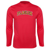 Performance Red Longsleeve Shirt-Flagler Arched