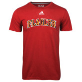 Adidas Climalite Red Ultimate Performance Tee-Flagler Arched