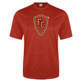 Performance Red Heather Contender Tee-Secondary Mark