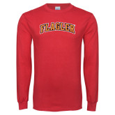 Red Long Sleeve T Shirt-Flagler Arched