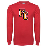 Red Long Sleeve T Shirt-FC Logo