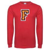 Red Long Sleeve T Shirt-Letter F Logo