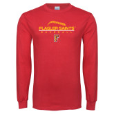 Red Long Sleeve T Shirt-Baseball Design