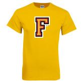 Gold T Shirt-Letter F Logo