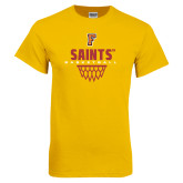 Gold T Shirt-Basketball Design