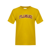 Youth Gold T Shirt-Flagler Arched