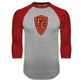Grey/Red Raglan Baseball T Shirt-Secondary Mark