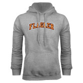 Grey Fleece Hoodie-Flagler Arched