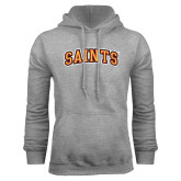 Grey Fleece Hoodie-Saints Arched