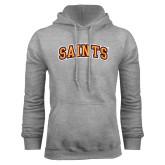 Grey Fleece Hoodie-Saints Arched