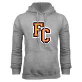 Grey Fleece Hoodie-FC Logo