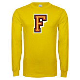 Gold Long Sleeve T Shirt-Letter F Logo