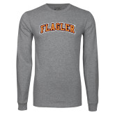 Grey Long Sleeve T Shirt-Flagler Arched