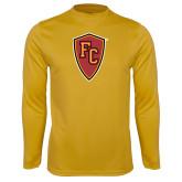 Performance Gold Longsleeve Shirt-Secondary Mark
