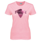 Ladies Pink T Shirt-Primary Mark Foil