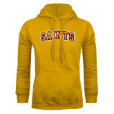 Gold Fleece Hoodie-Saints Arched