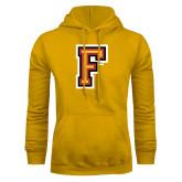 Gold Fleece Hoodie-Letter F Logo