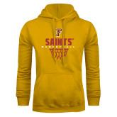 Gold Fleece Hoodie-Basketball Design