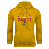 Gold Fleece Hoodie-Soccer Design