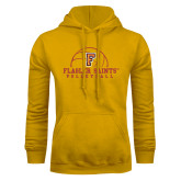 Gold Fleece Hoodie-Volleyball Design