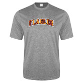 Performance Grey Heather Contender Tee-Flagler Arched
