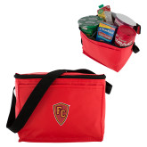 Six Pack Red Cooler-Secondary Mark