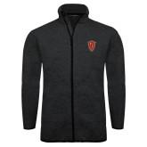 Black Heather Fleece Jacket-Secondary Mark