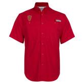 Columbia Bonehead Red Short Sleeve Shirt-Secondary Mark