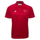 Adidas Climalite Red Jacquard Select Polo-Primary Mark