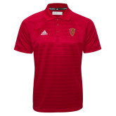 Adidas Climalite Red Jacquard Select Polo-Secondary Mark