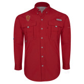 Columbia Bahama II Red Long Sleeve Shirt-Secondary Mark