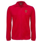 Fleece Full Zip Red Jacket-Secondary Mark