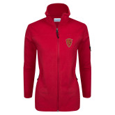 Columbia Ladies Full Zip Red Fleece Jacket-Secondary Mark