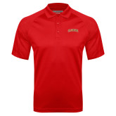 Red Textured Saddle Shoulder Polo-Flagler Arched