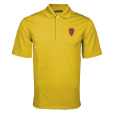 Gold Mini Stripe Polo-Secondary Mark