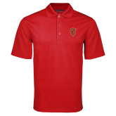 Red Mini Stripe Polo-Secondary Mark