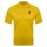 Gold Textured Saddle Shoulder Polo-Secondary Mark