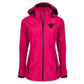 Ladies Dark Fuchsia Waterproof Jacket-Primary Mark
