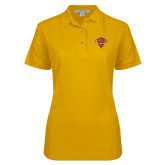 Ladies Easycare Gold Pique Polo-Primary Mark
