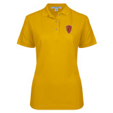 Ladies Easycare Gold Pique Polo-Secondary Mark