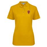 Ladies Easycare Gold Pique Polo-Secondary Mark