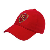 Red Twill Unstructured Low Profile Hat-Secondary Mark