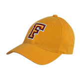 Gold Twill Unstructured Low Profile Hat-Letter F Logo