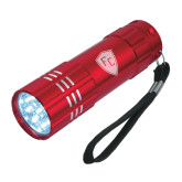 Industrial Triple LED Red Flashlight-Secondary Mark Engraved