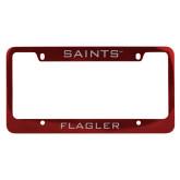 Metal Red License Plate Frame-Saints