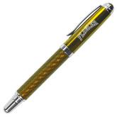 Carbon Fiber Gold Rollerball Pen-Flagler Arched Engraved