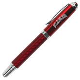 Carbon Fiber Red Rollerball Pen-Flagler Arched Engraved